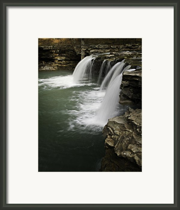 0804-0013 Falling Water Falls 4 Framed Print By Randy Forrester