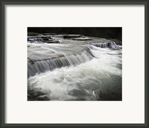 0804-0113 Six Finger Falls 2 Framed Print By Randy Forrester