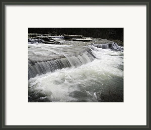 0804-0113 Six Finger Falls 2 Framed Print By Randy Forrester