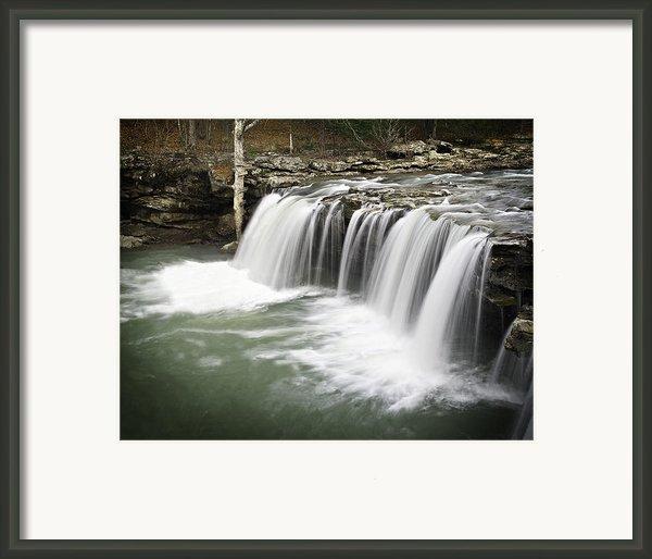 0805-005b Falling Water Falls 2 Framed Print By Randy Forrester