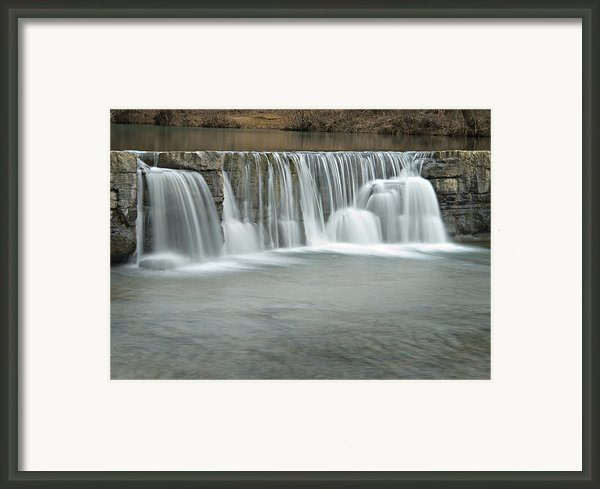 0902-7025 Natural Dam 3 Framed Print By Randy Forrester