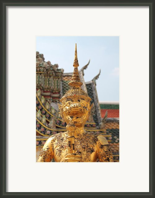 Demon Guardian Statues At Wat Phra Kaew Framed Print By Panyanon Hankhampa