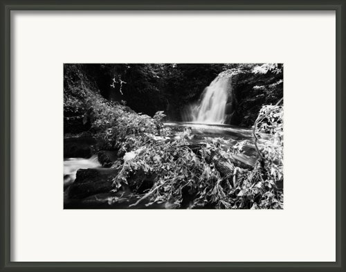 Gleno Or Glenoe Waterfall Beauty Spot County Antrim Northern Ireland Framed Print By Joe Fox
