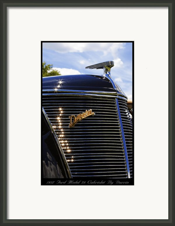 1937 Ford Model 78 Cabriolet Convertible By Darrin Framed Print By Gordon Dean Ii