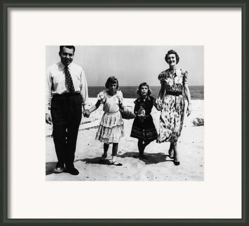 1956 Us Presidency, Nixon Family.  From Framed Print By Everett