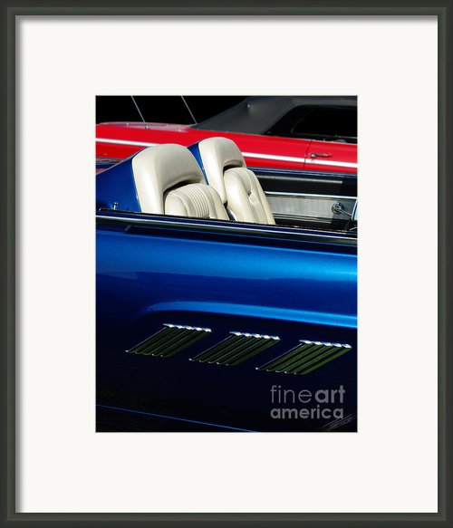 1963 Thunderbird Convertible Framed Print By Peter Piatt