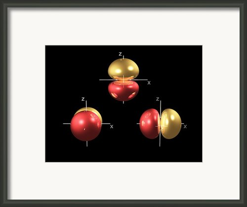 2p Electron Orbitals Framed Print By Dr Mark J. Winter