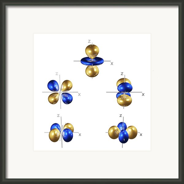 3d Electron Orbitals Framed Print By Dr Mark J. Winter