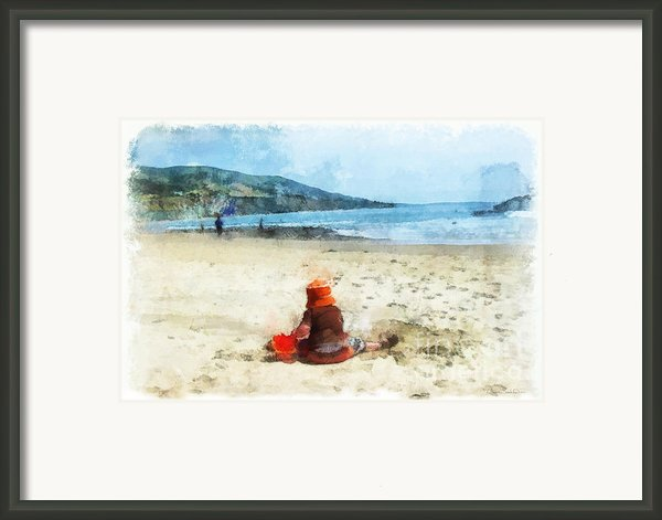 A Day At The Beach Framed Print By Dawn Serkin