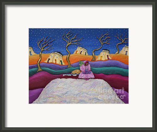 A Snowy Night Framed Print By Anne Klar