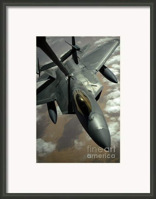 A U.s. Air Force F-22 Raptor Framed Print By Stocktrek Images