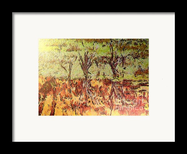 Abstract Artwork Framed Print By Odon Czintos