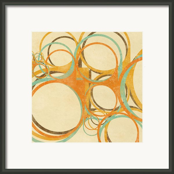 Abstract Circle Framed Print By Setsiri Silapasuwanchai