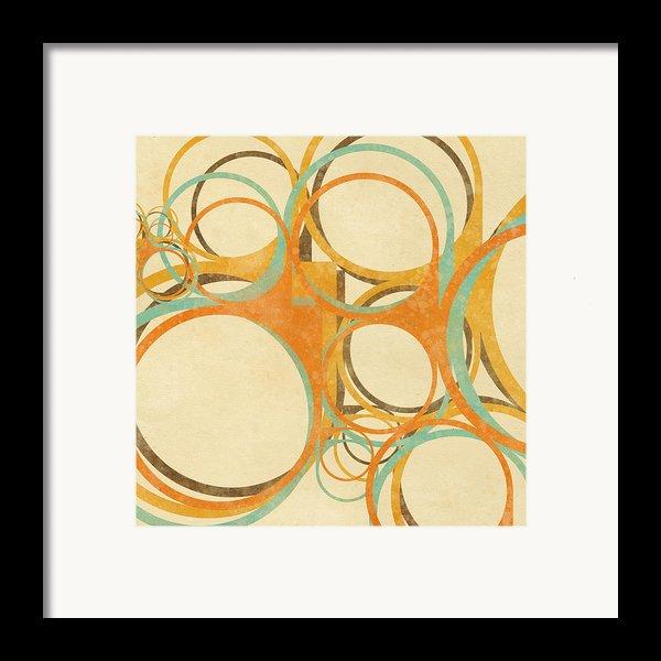 Abstract Circle Framed Print By Setsiri Silapasuwanchai