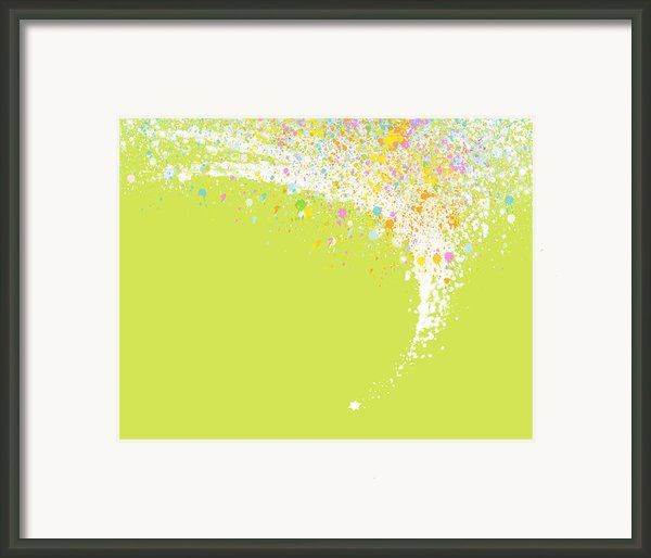 Abstract Curved Framed Print By Setsiri Silapasuwanchai