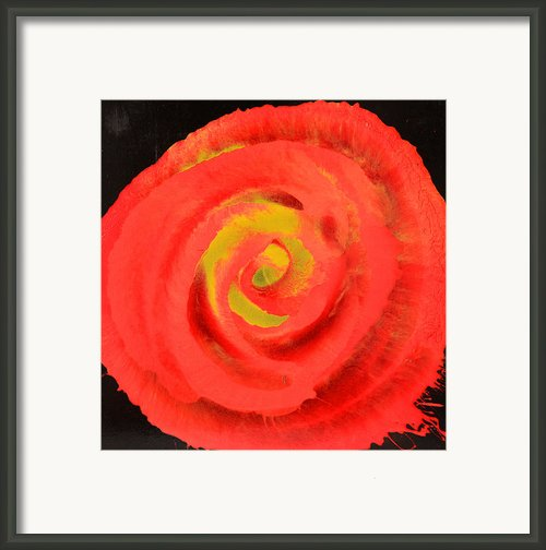 Abstract Flower Painting Framed Print By Lyubomir Kanelov