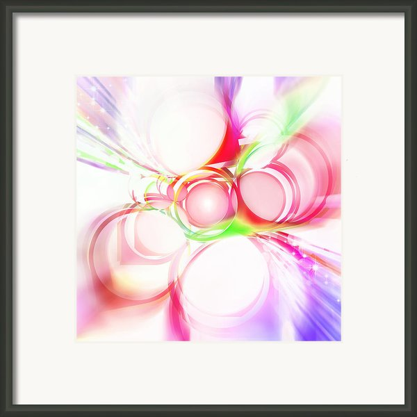 Abstract Of Circle  Framed Print By Setsiri Silapasuwanchai