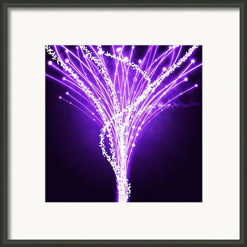 Abstract Of Fiber Optic Framed Print By Setsiri Silapasuwanchai