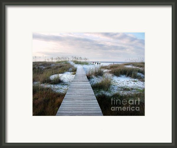 Across The Dunes Framed Print By Julie Dant