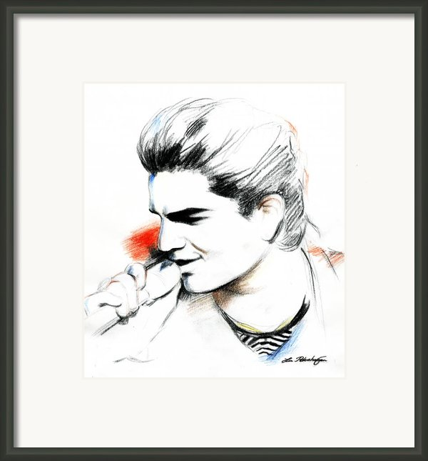 Adam Lambert Framed Print By Lin Petershagen