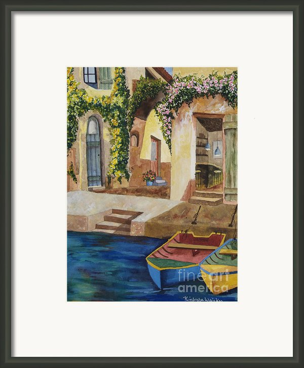 Afternoon At The Piazzo Framed Print By Kimberlee Weisker