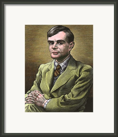Alan Turing, British Mathematician Framed Print By Bill Sanderson