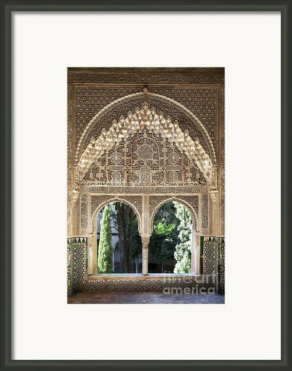 Alhambra Windows Framed Print By Jane Rix