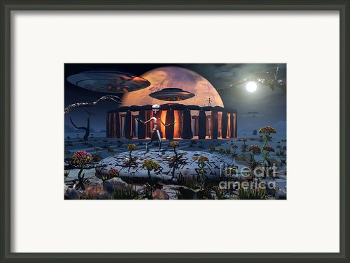 Alien Explorers On An Alien World Framed Print By Mark Stevenson