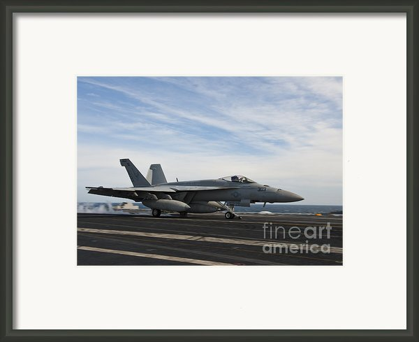 An Fa-18f Super Hornet Takes Framed Print By Stocktrek Images
