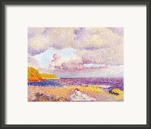 An Incoming Storm Framed Print By Henri-edmond Cross