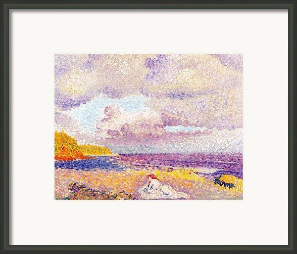 An Incoming Storm Framed Print By Henri-edmond Cross
