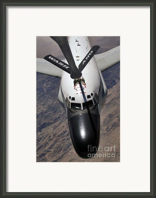 An Rc-135 Rivet Joint Reconnaissance Framed Print By Stocktrek Images