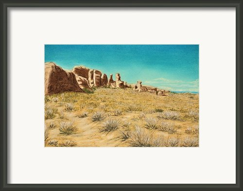 Arches 2 Framed Print By Jan Amiss