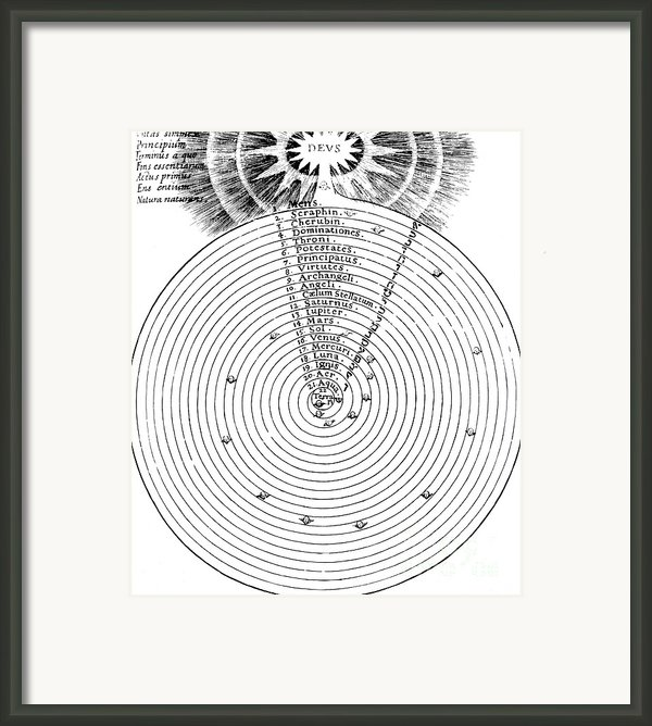 Aristotlelian And Christian Cosmologies Framed Print By Science Source