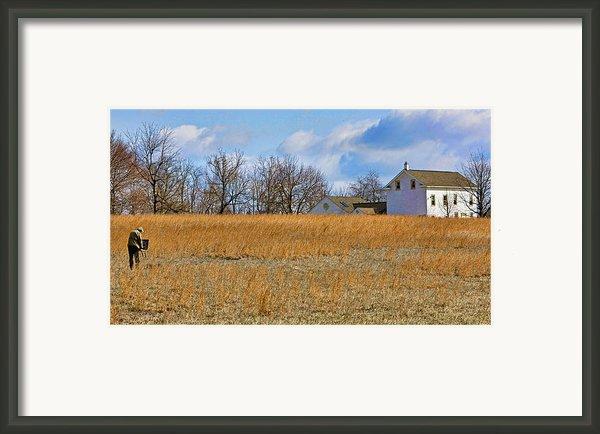 Artist In Field Framed Print By William Jobes