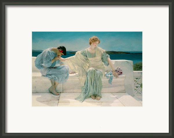 Ask Me No More Framed Print By Sir Lawrence Alma-tadema