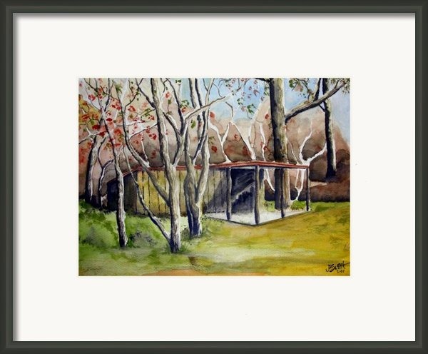 Autumn Shed Framed Print By Jimmy Smith