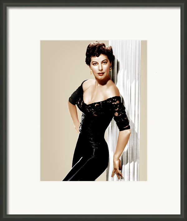 Ava Gardner, Ca. 1950s Framed Print By Everett