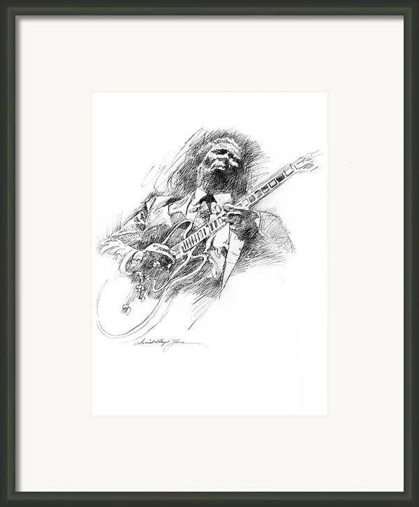 B B King And Lucille Framed Print By David Lloyd Glover