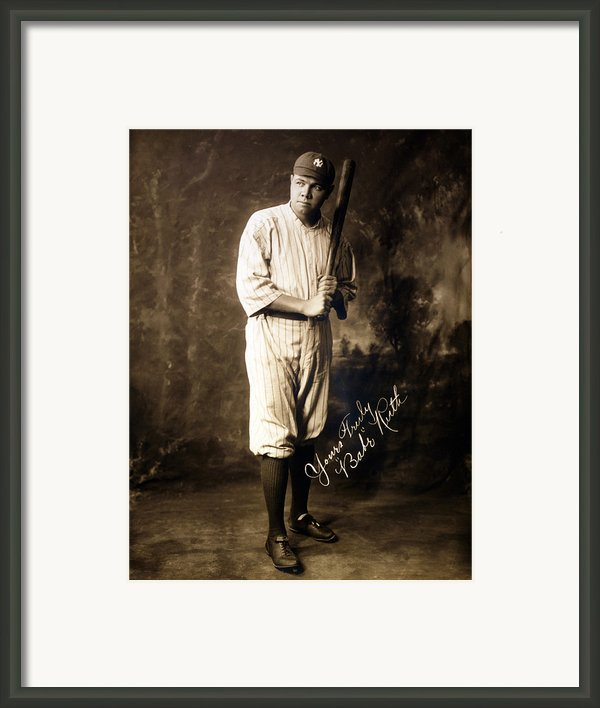 Babe Ruth, 1920 Framed Print By Everett