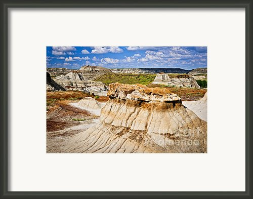 Badlands In Alberta Framed Print By Elena Elisseeva
