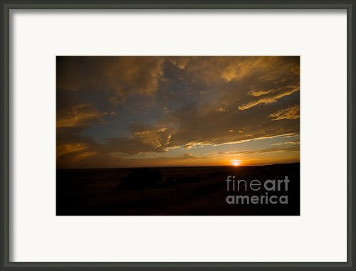 Badlands Sunset Framed Print By Chris  Brewington Photography Llc