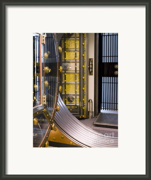 Bank Vault Doors Framed Print By Adam Crowley