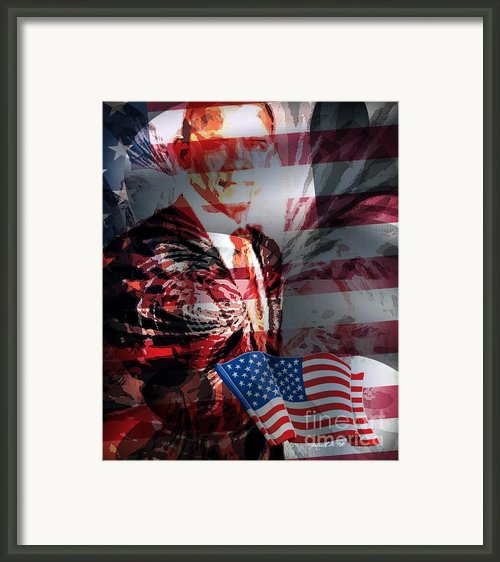 Barack Framed Print By Fania Simon