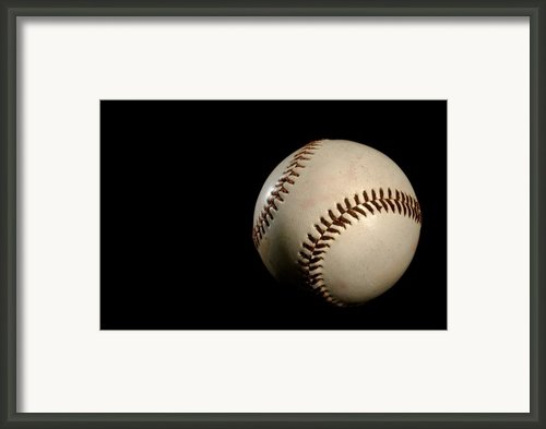 Baseball Ball Framed Print By Felix M Cobos