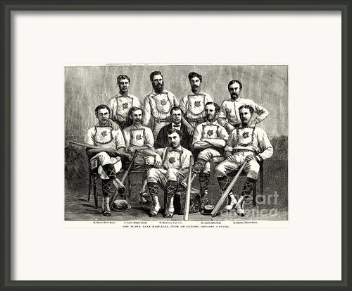 Baseball: Canada, 1874 Framed Print By Granger