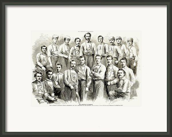 Baseball Teams, 1866 Framed Print By Granger