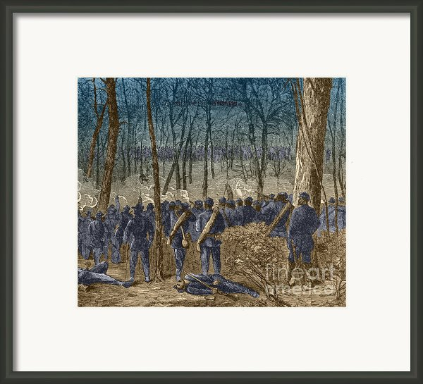 Battle Of The Wilderness, 1864 Framed Print By Photo Researchers