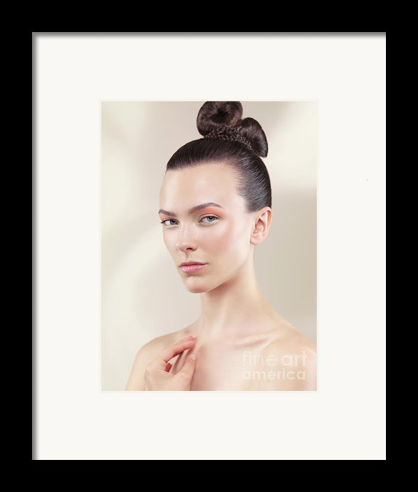 Beautiful Young Woman Portrait Framed Print By Oleksiy Maksymenko