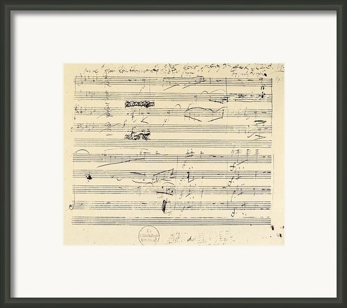 Beethoven Manuscript, 1826 Framed Print By Granger